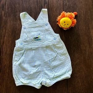 3/$15 OshKosh Seersucker Bubble Suit Romper EUC